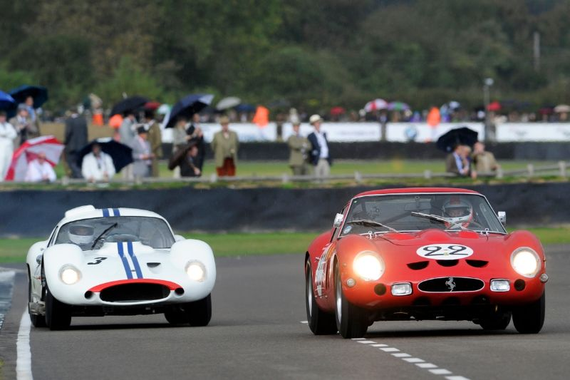 1962 Ferrari 250 GTO - Martin Brundle and Mark Hales and 1962 Maserati Tipo 151 - Joe Colasacco and Derek Hill
