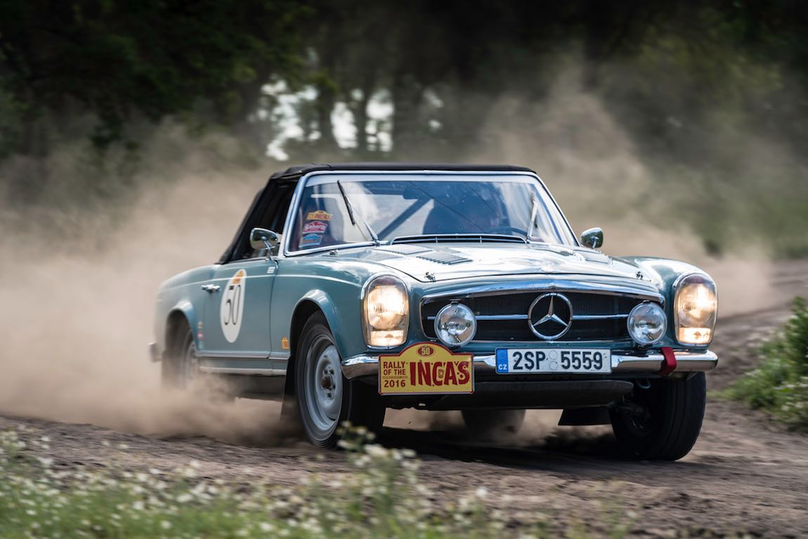 Car 50 Jan Hradecky(CZ) / Dana Hradecka(CZ)1965 - Mercedes Benz 230SL, Rally of the Incas 2016, Rally of the Incas 2016. Day 01 Buenos Aires - Mar del Plata