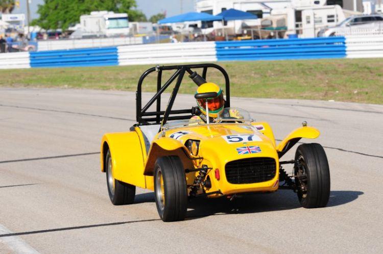 Andrew Barron 1969 Lotus Super 7.