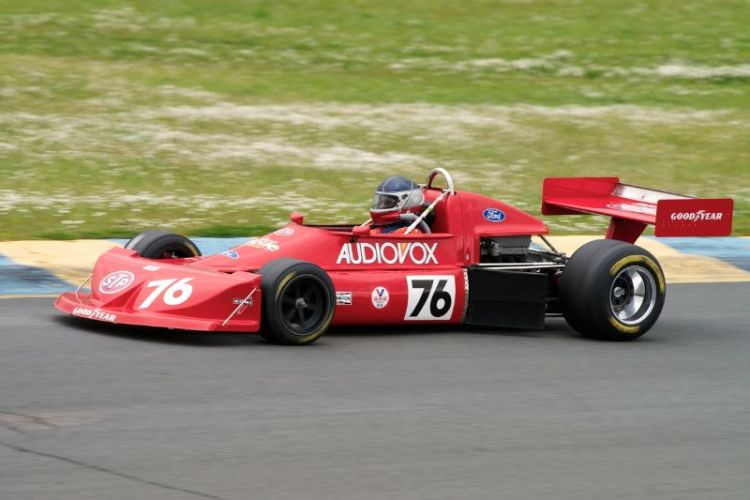 Friday afternoon practice. Ken Stone in his 1976 MARCH 76B.