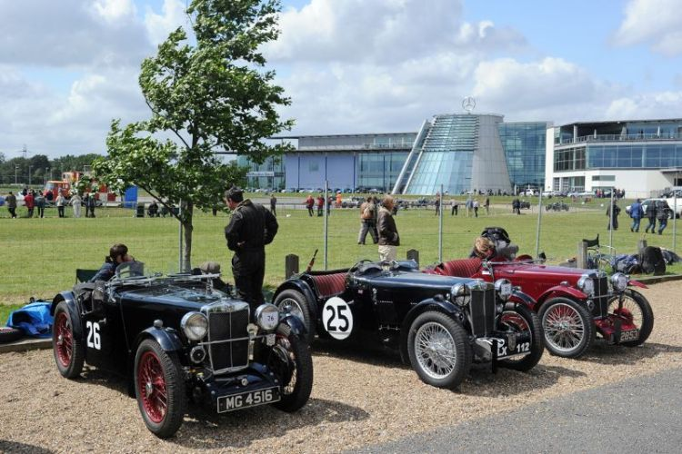 MGs at Brooklands Double Twelve Festival 2012