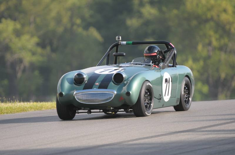 Doug Bruce and his Frogeye Sprite.