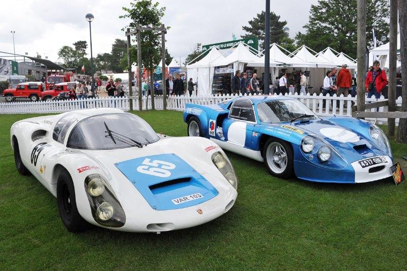 Porsche 910 and Alpine Renault - Le Mans Classic 2012