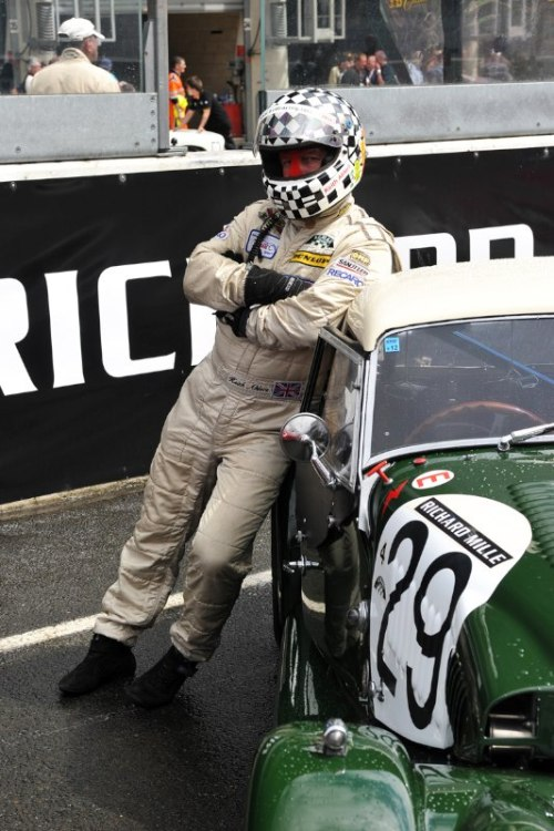 Keith Ahlers patiently wait for the start - Le Mans Classic 2012