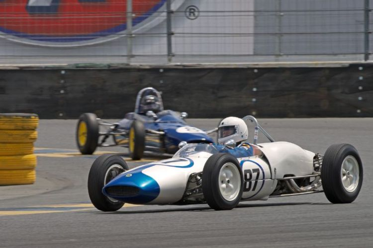 Barbara Blackie in her 1962 Lotus F-Jr in eleven.