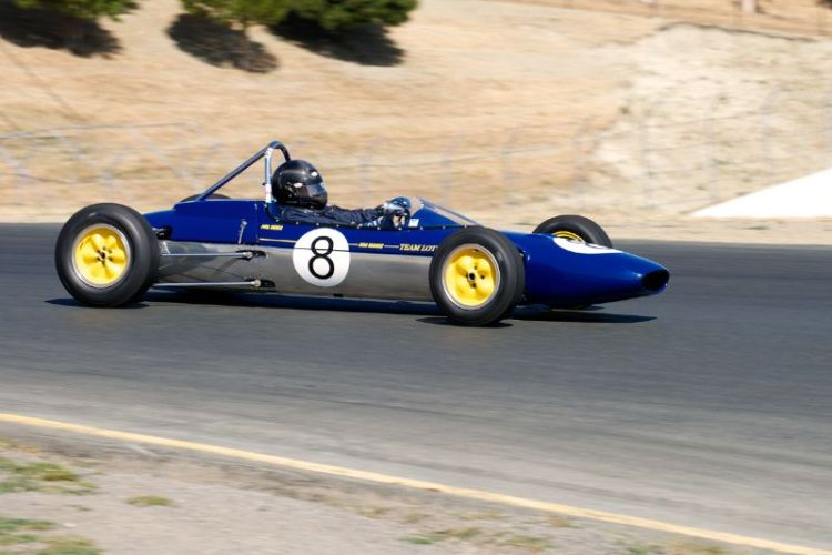 Phillip Ribbs in his 1963 Lotus 27 F-Jr. in four.