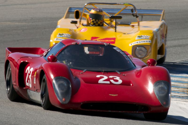 Chevron B19 in turn five Thursday afternoon.