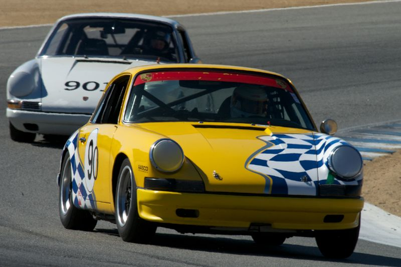 Charles Harris in his Porsche 911.