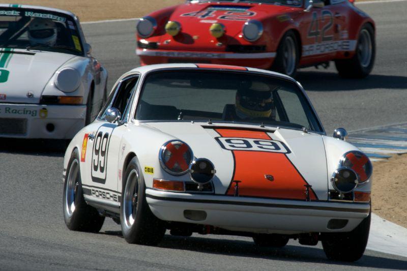 Frank Altamura in his Porsche 911S.