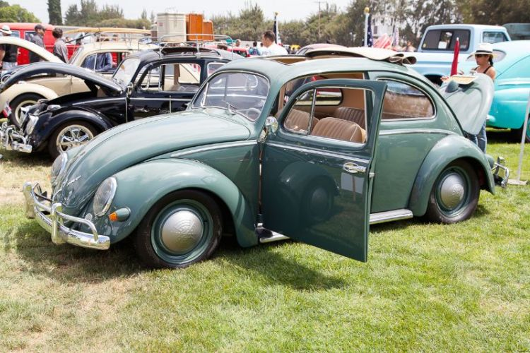 "1957 Volkswagen ""oval window"" Bug, owned by Rick Litchie."