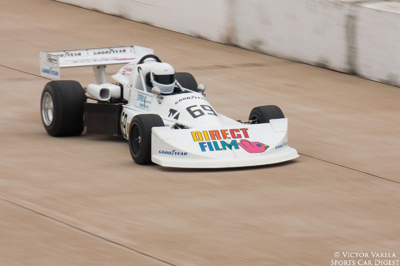 Dan Marvin on the front straight in his 1976 March 76B. © 2014 Victor Varela