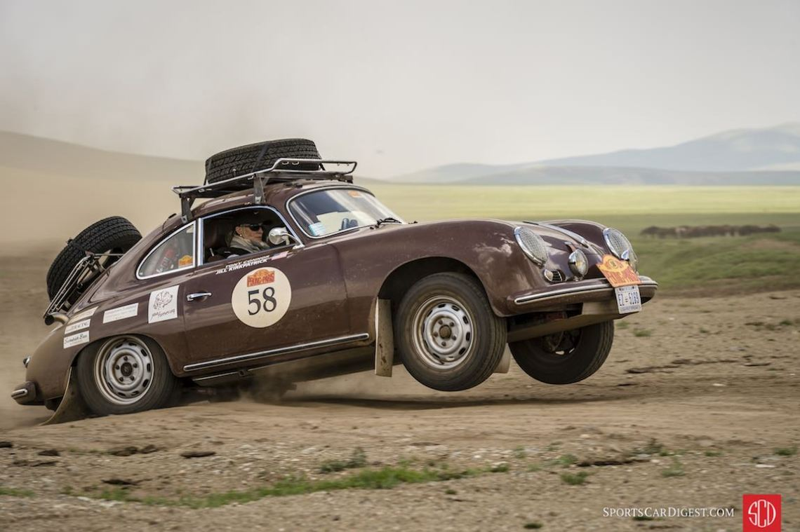 Porsche 356A Coupe on the 8,500-mile Peking to Paris (photo: Gerard Brown)