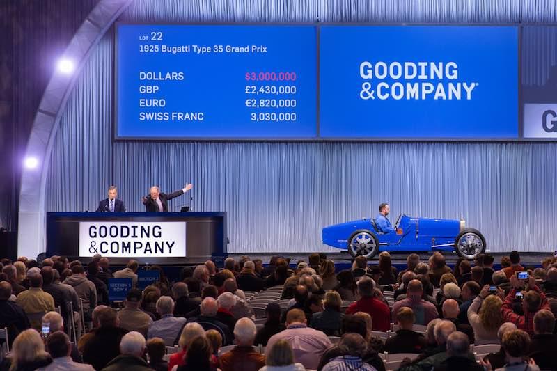 Bugatti Type 35 Grand Prix sold for $3,300,000 (photo: Mike Maez)