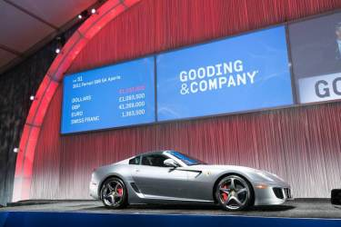2011 Ferrari 599 SA Aperta sold for $1,485,000 (photo: Jensen Sutta)