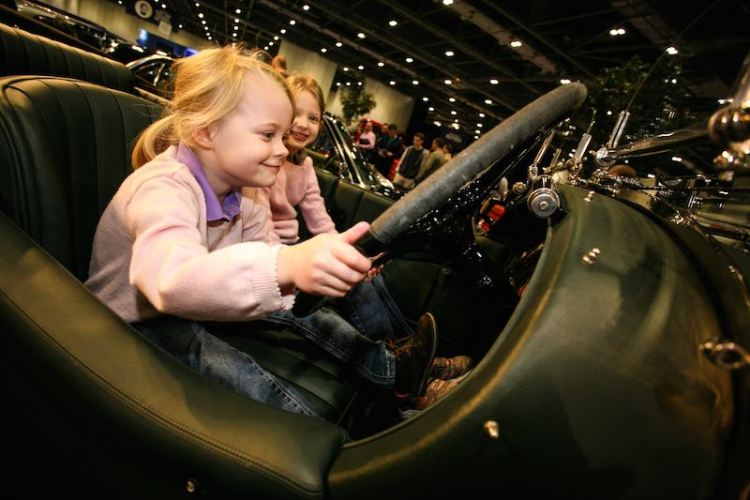 All ages enjoying the London Classic Car Show
