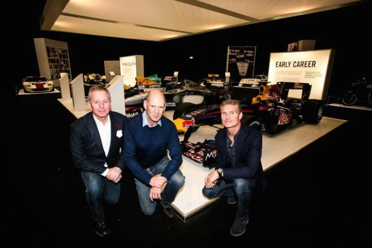 Martin Brundle, Adrian Newey and David Coulthard