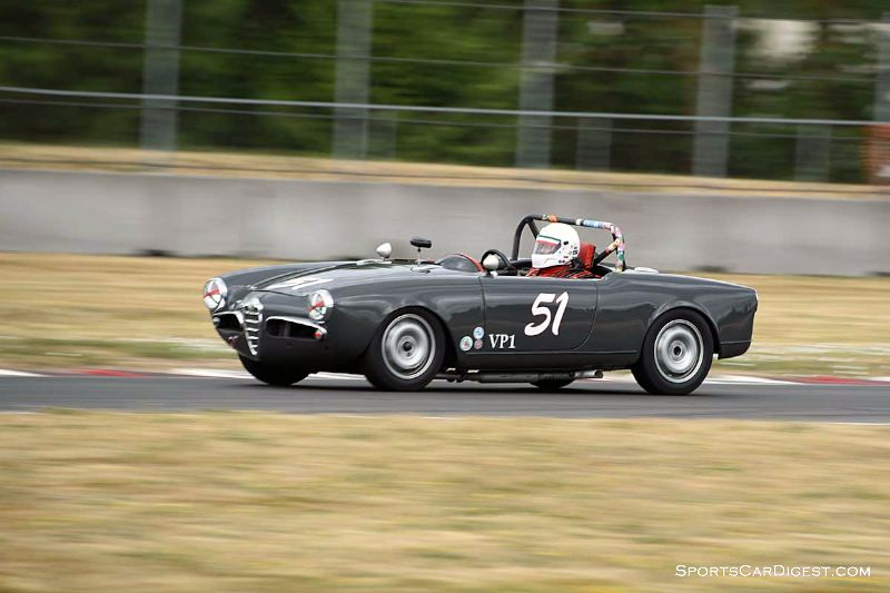 Mark Carpenter's Alfa Romeo Giulia Spider at Portland Historic Races 2015