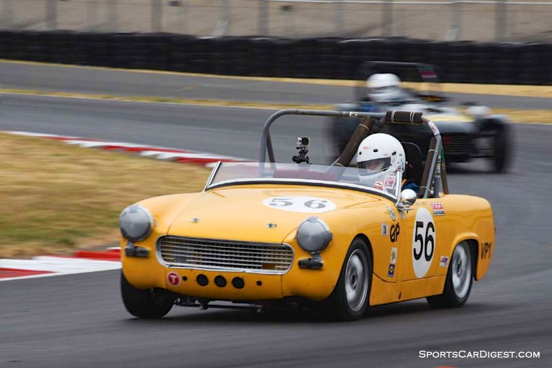David Sweet's 1962 Austin Healey Sprite - Portland Historic Races 2015