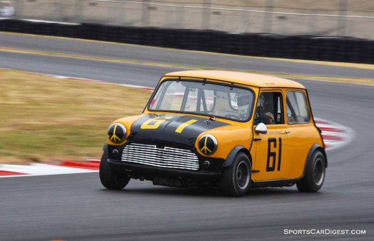 Donald Racine's 1961 Mini Cooper S - Portland Historic Races 2015
