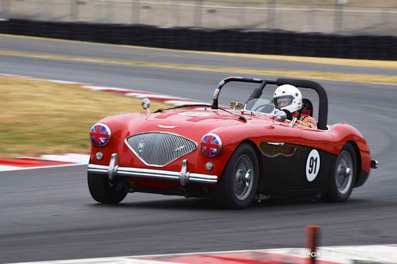 Larry Paterson's 1955 Austin Healey 100M at Portland Historic Races 2015