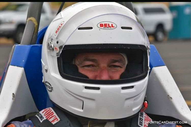 Neil Shelton inside the 1978 Crossle FF at Portland Historic Races 2015