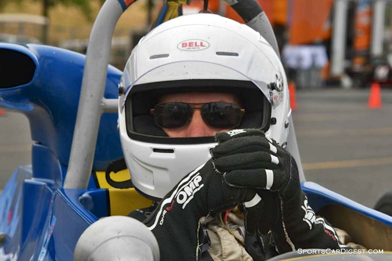 Bob Posner inside the 1970 Titan Mk 6B at Portland Historic Races 2015