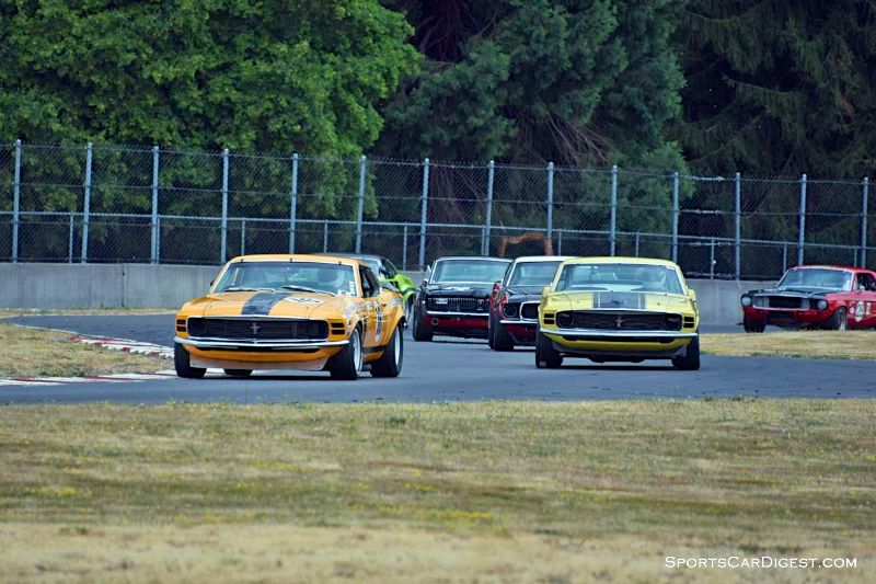 Historic Trans Am field at  Portland Historic Races 2015