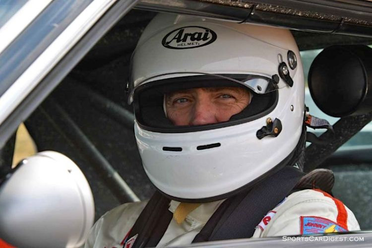 Bill Ockerlund inside the 1969 Ford Mustang Boss 302 at Portland Historic Races 2015