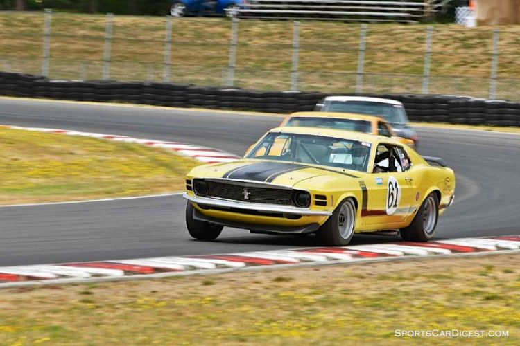 Jim Halsey's 1970 Ford Mustang Boss 302 during  Portland Historic Races 2015