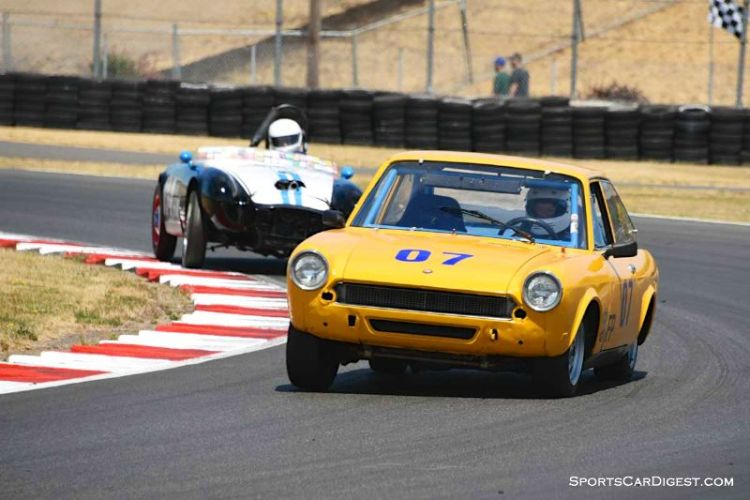Steve Hare's 1969 Fiat 124 SC at Portland Historic Races 2015