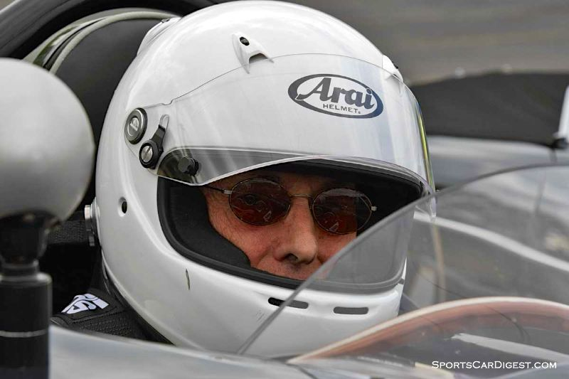 Ted Rodgers inside the 1962 Porsche 356B at Portland Historic Races 2015