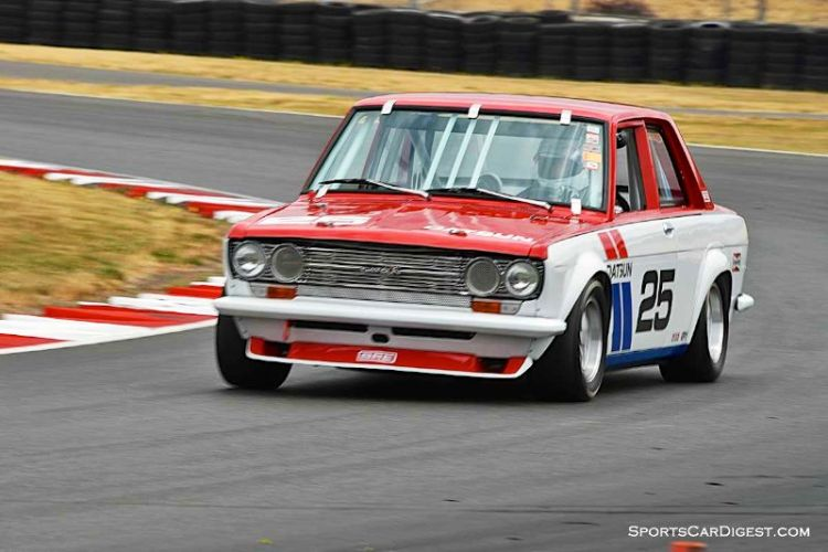 Ken Garchow's 1971 Datsun 510 at Portland Historic Races 2015