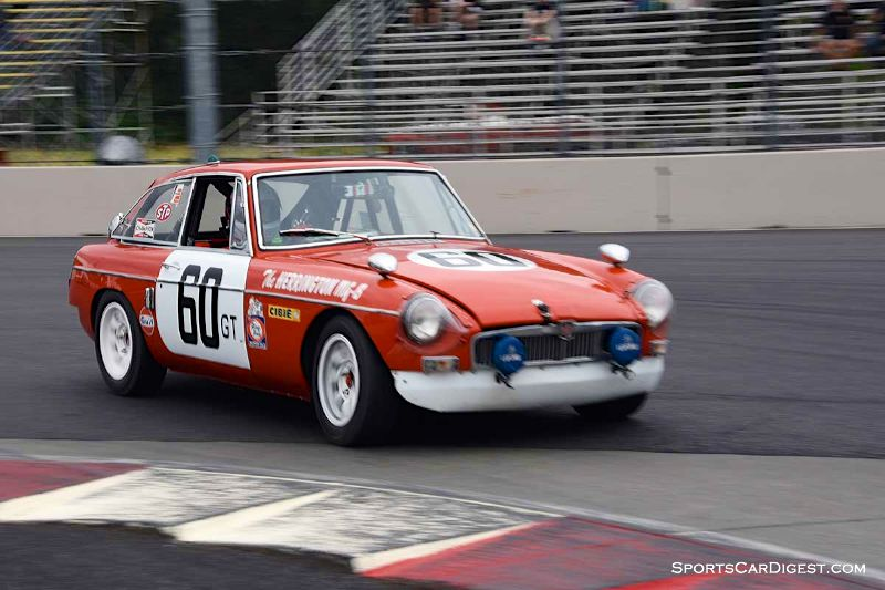 Michael Zbarsky's 1967 MGB GT Works at Portland Historic Races 2015