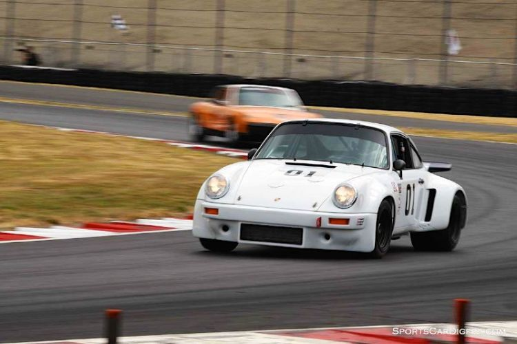 Cameron Healy pilots the 1977 Porsche 911 Carrera RSR Portland Historic Races 2015