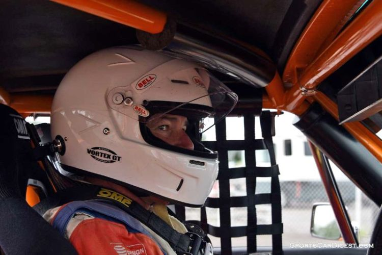 Neil Shelton inside the 1970 Porsche 914-6 at Portland Historic Races 2015