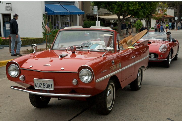 1964 Amphicar 770 with water skis