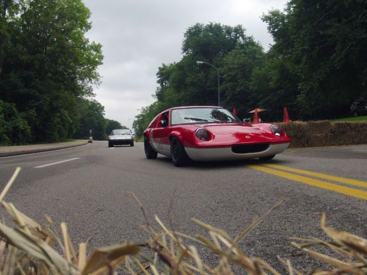 David Kessinger, enters the Hay Bale Cicane, Lotus Europa.