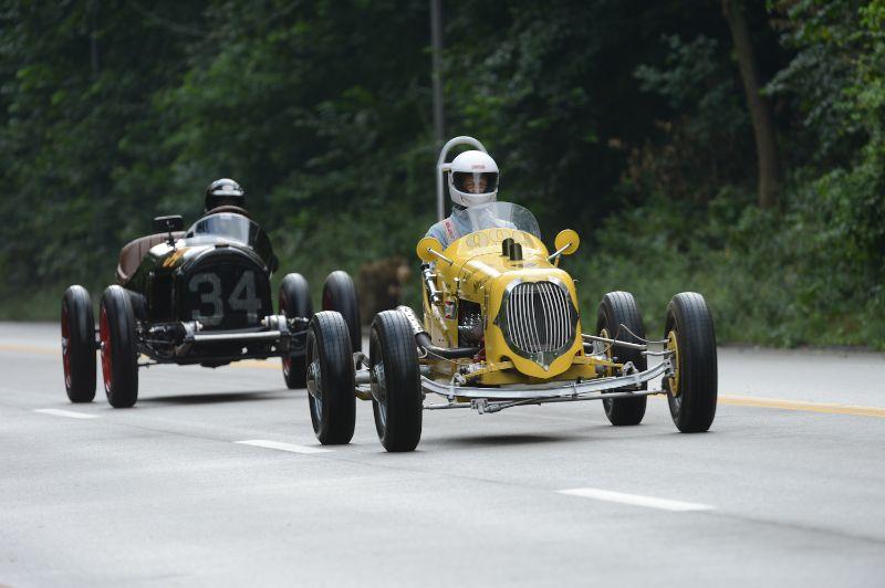 John Guehl- 1939 Mercury Sprint. Tony Parella- 1934 Chevy Indy Car.