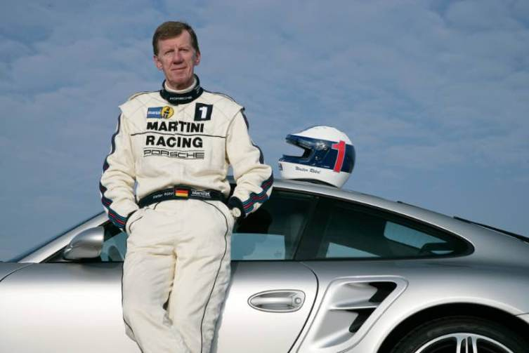 Walther Rohrl and a 911 Turbo 3.6 Coupe (997).