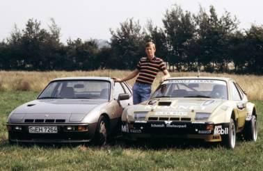 Walter Rohrl between 924 Carrera GTS and 924 Turbo (1981)
