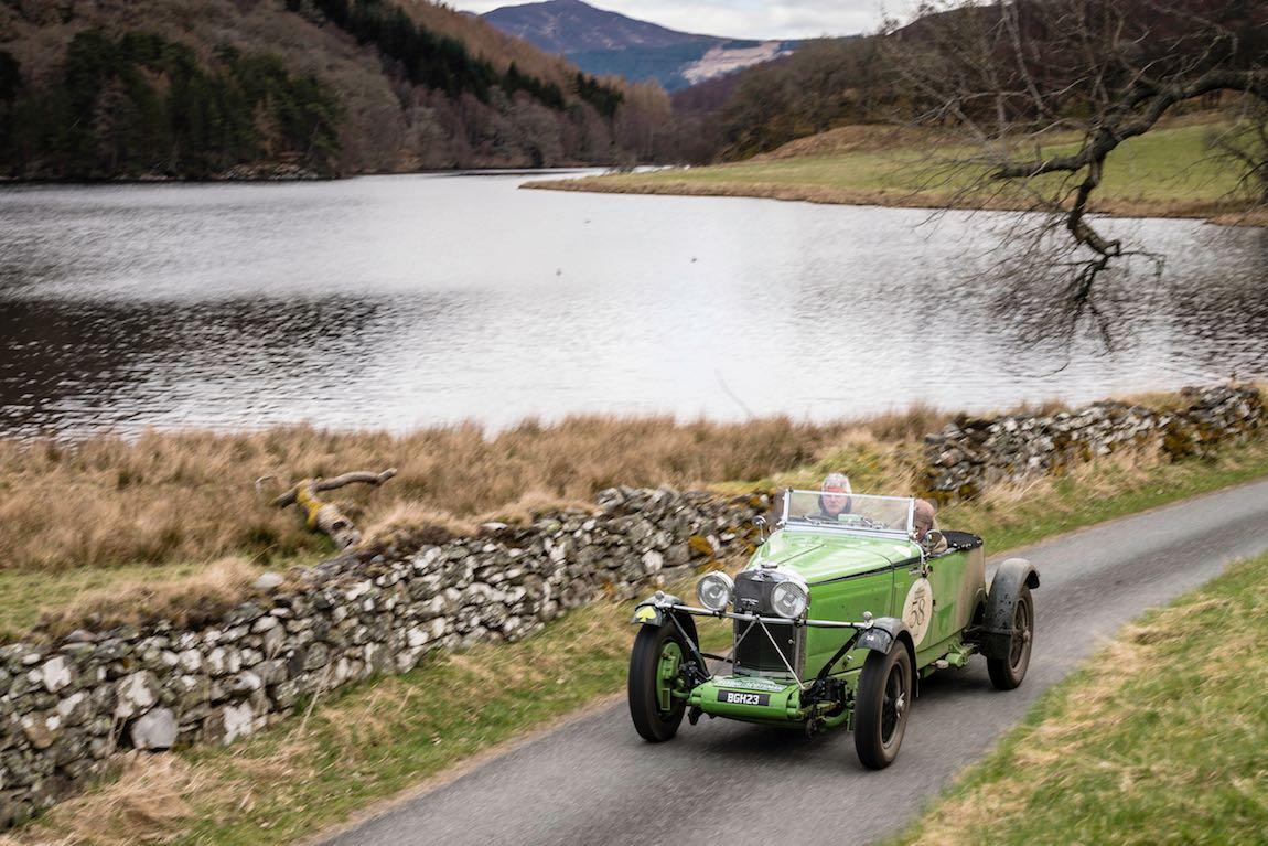 Wilfried Schaefer (D) / Sandra Hubner (D) 1934 Talbot AV105, Flying Scotsman 2017. Aviemore - Gleneagles