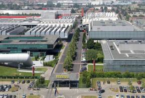 Overview of Ferrari Factory in Maranello, Italy