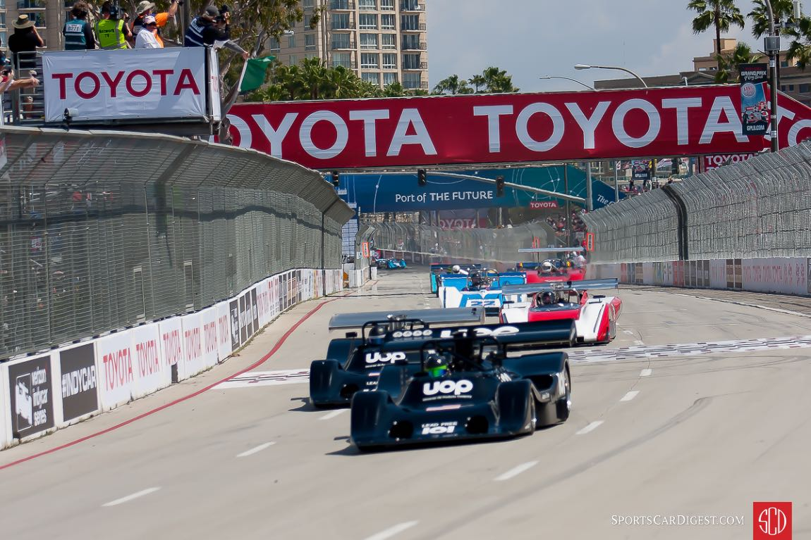 Shadows lead the start of the Can Am event at Long Beach