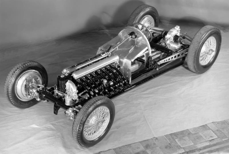 Revolutionary design: exhibition model of the Mercedes-Benz W 125 Grand Prix racing car for the 1937 season