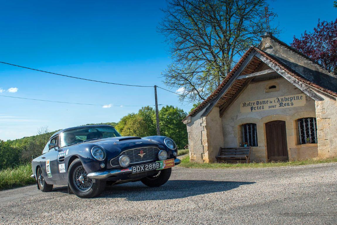 1965 Aston Martin DB5 - London to Lisbon Rally 2017