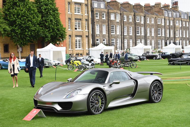 Porsche 918 Spyder - London City Concours 2017 (photo: Tim Scott)