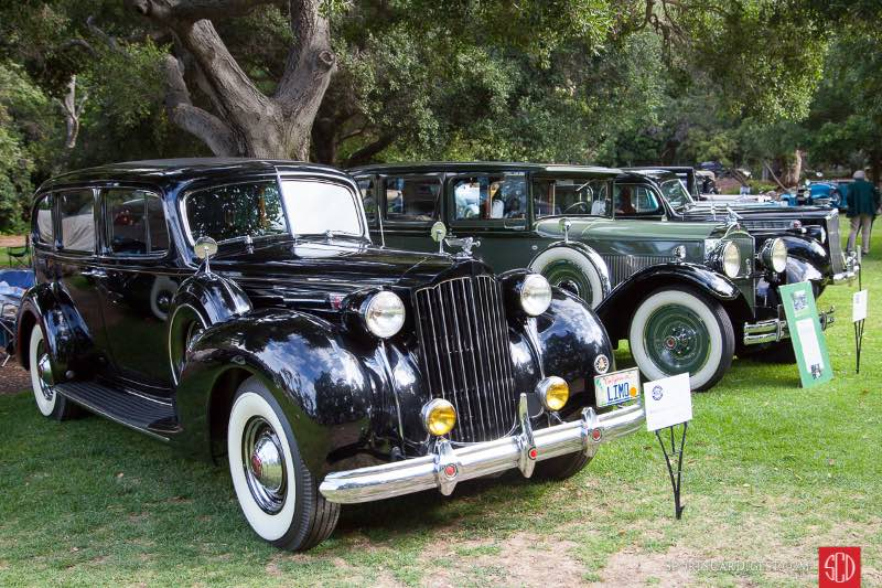 (L-R) 1939 Packard Series 1708 Limousine, 1930 Packard Series 726 Sedan