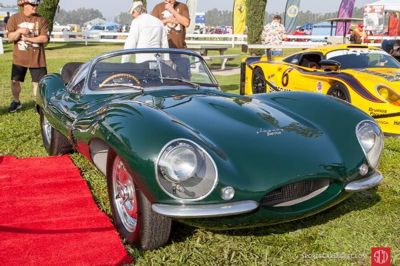 The 1956 Jaguar XKSS owned by Steve McQueen.
