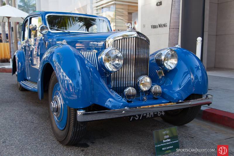 1939 Bentley 4 1/4 Litre Pillarless Saloon by Vanvooren, owned by Nick Lemieux