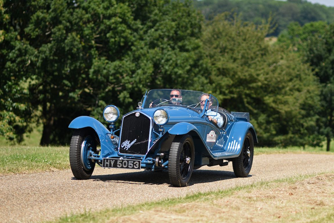 1931 Alfa Romeo 8C 2300 Touring Spyder at Heveningham Hall Concours d'Elegence 2017. Credit Rufus Owen